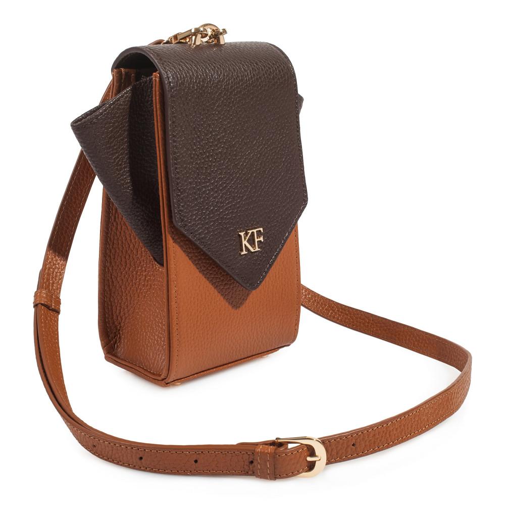 Жіноча шкіряна вертикальна сумка кросс-боді April KF-3666-1
