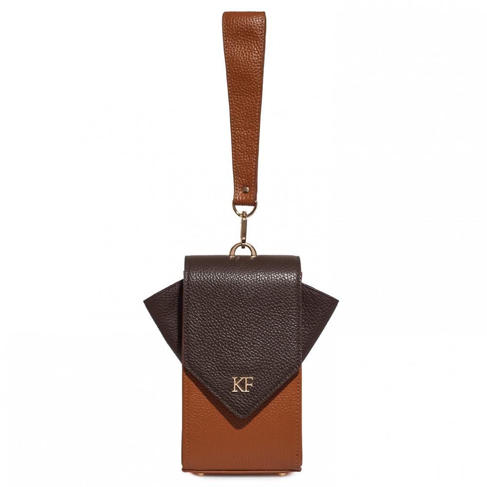 Жіноча шкіряна вертикальна сумка кросс-боді April KF-3666-2