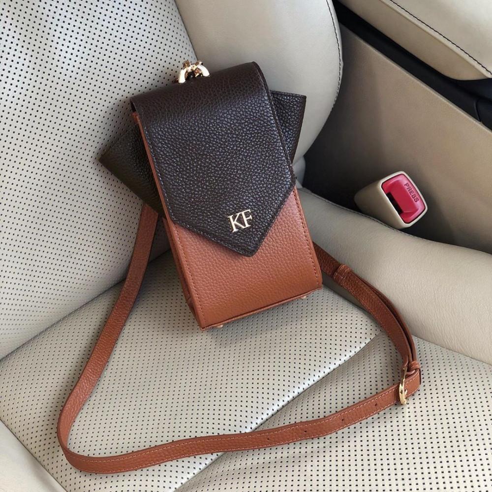 Жіноча шкіряна вертикальна сумка кросс-боді April KF-3666-6