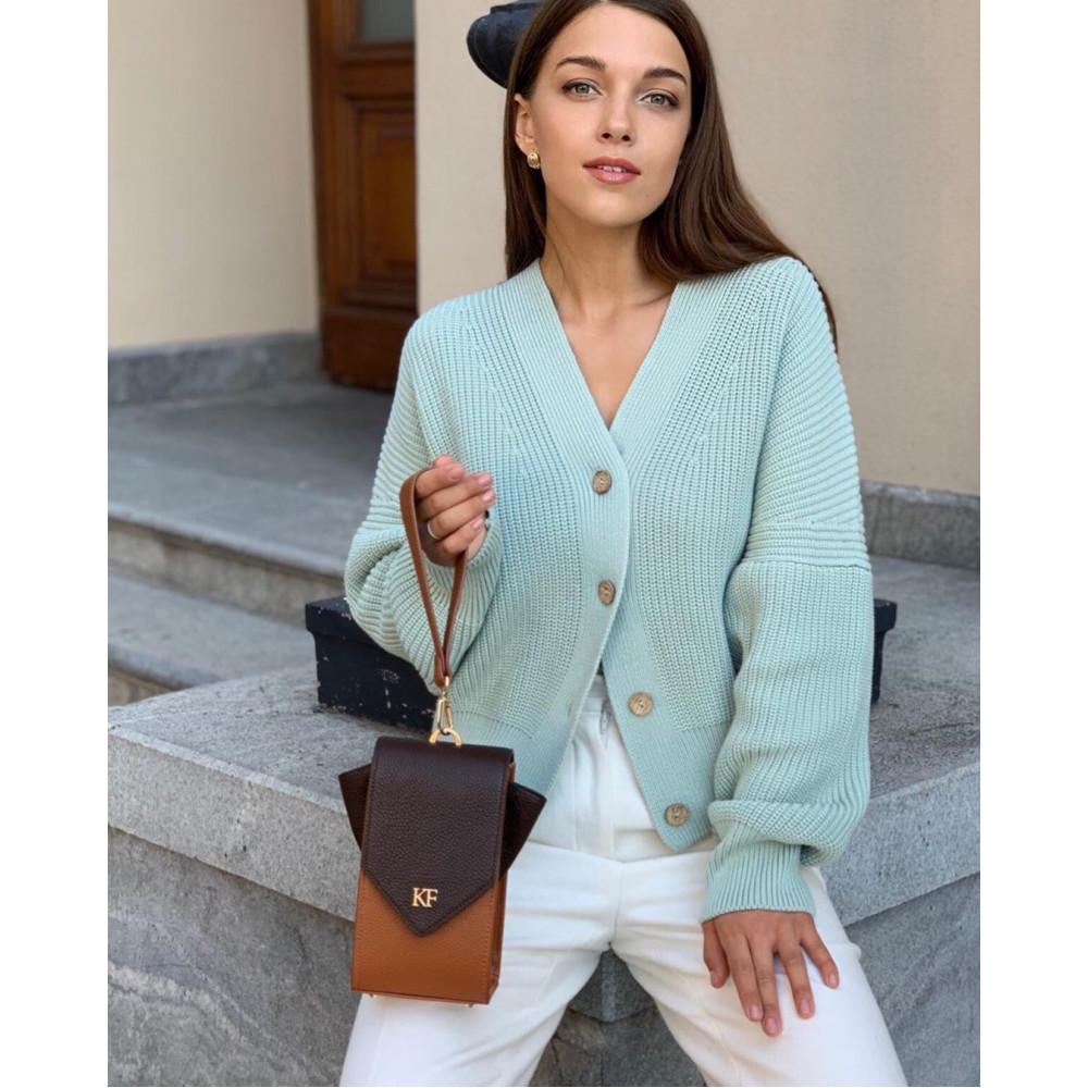 Жіноча шкіряна вертикальна сумка кросс-боді April KF-3666-8