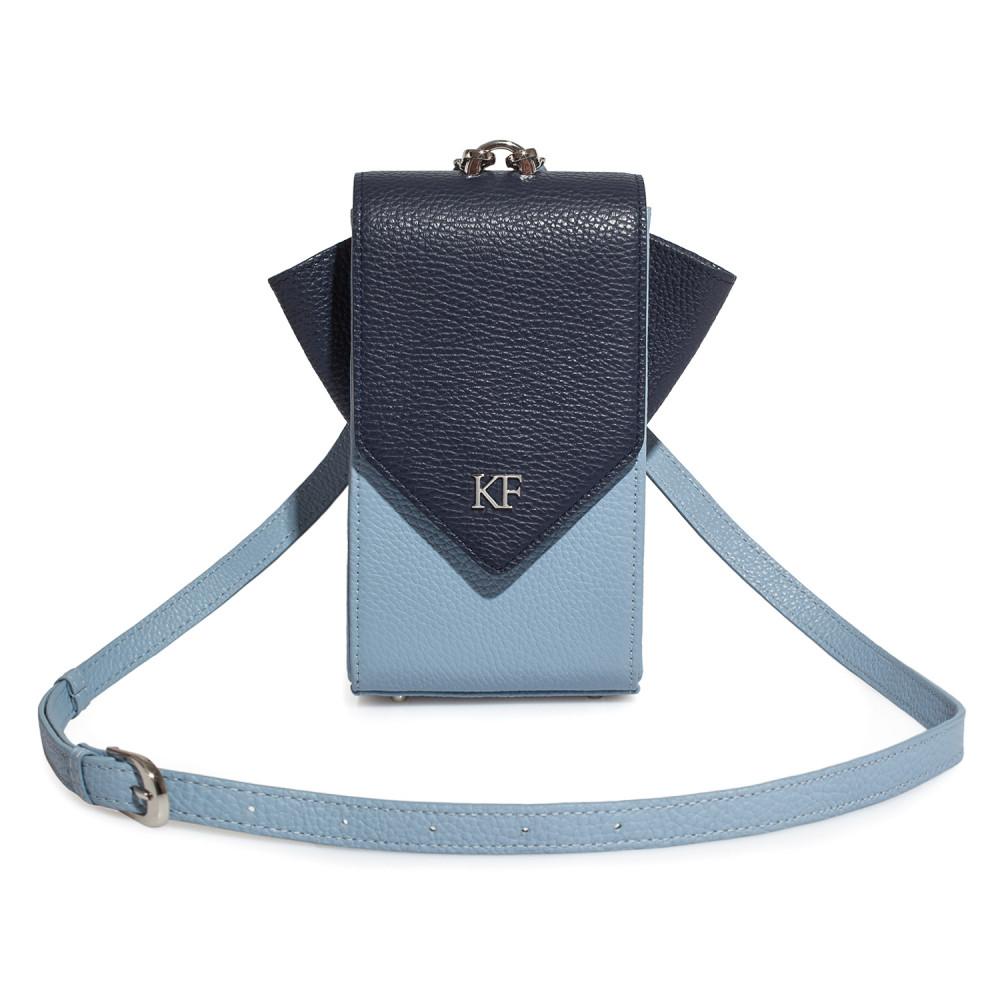 Жіноча шкіряна вертикальна сумка кросс-боді April KF-3667-1