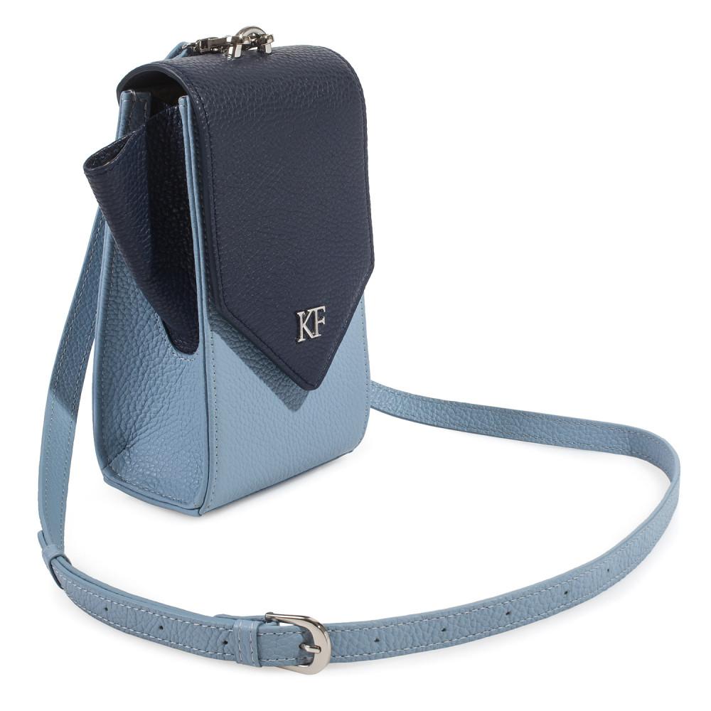 Жіноча шкіряна вертикальна сумка кросс-боді April KF-3667-2