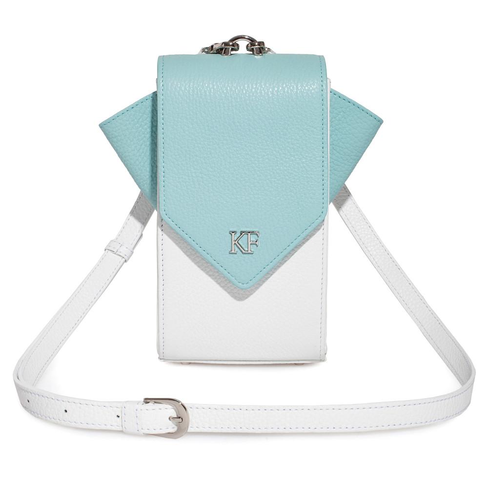 Жіноча шкіряна вертикальна сумка кросс-боді April KF-3668-1