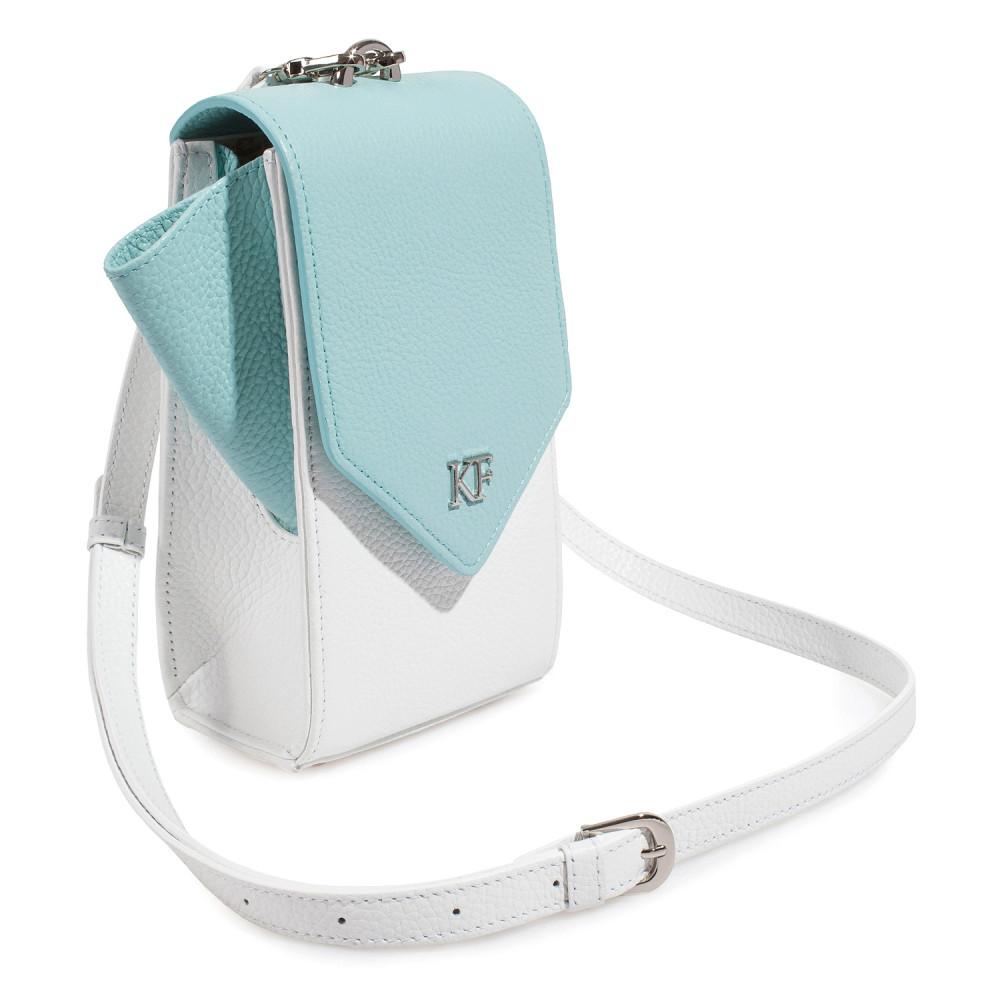 Жіноча шкіряна вертикальна сумка кросс-боді April KF-3668-2