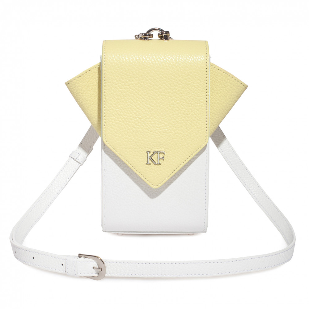 Жіноча шкіряна вертикальна сумка кросс-боді April KF-3670-1