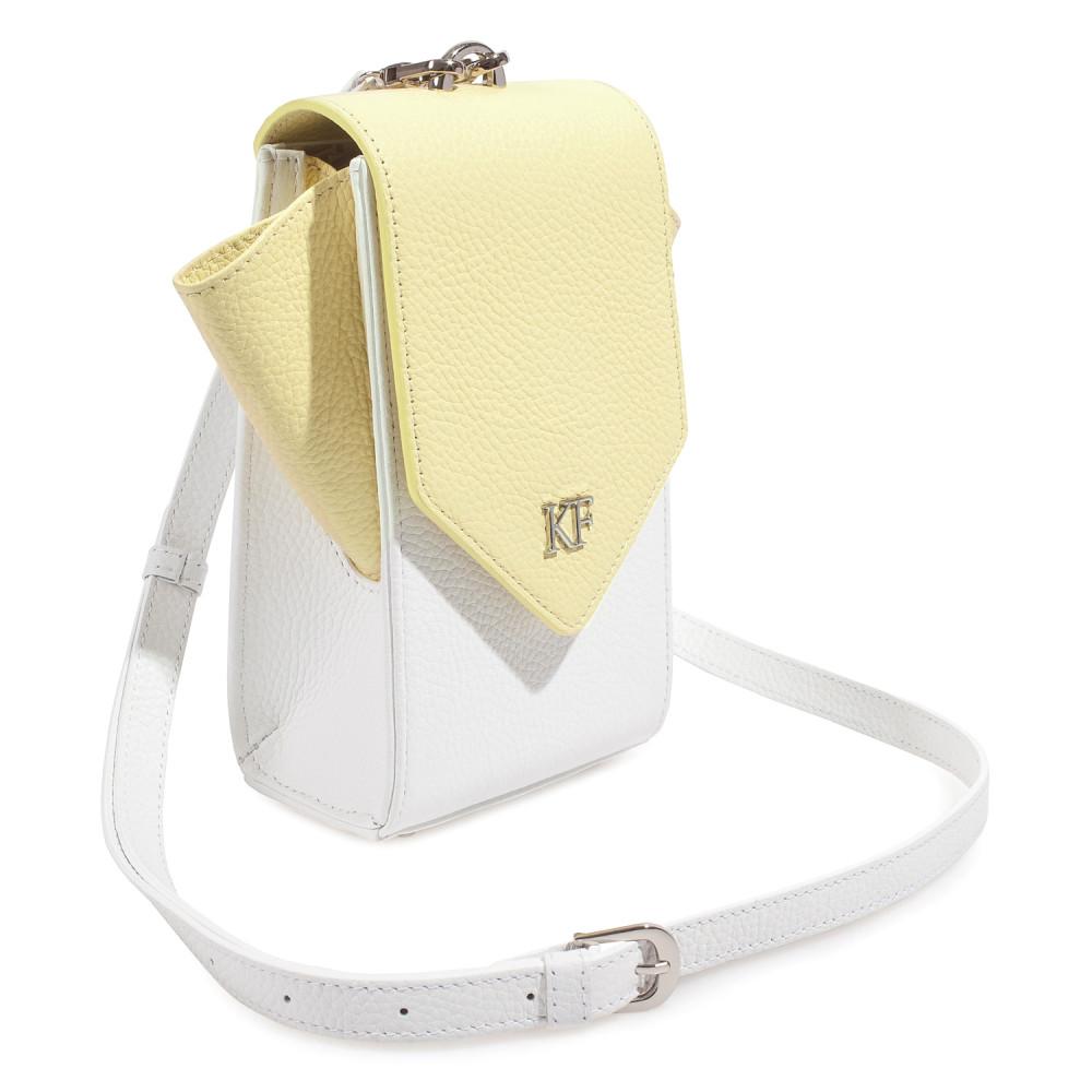 Жіноча шкіряна вертикальна сумка кросс-боді April KF-3670-2