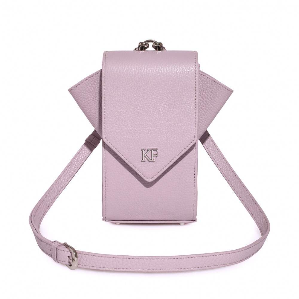 Women's leather vertical crossbody bag April KF-3671