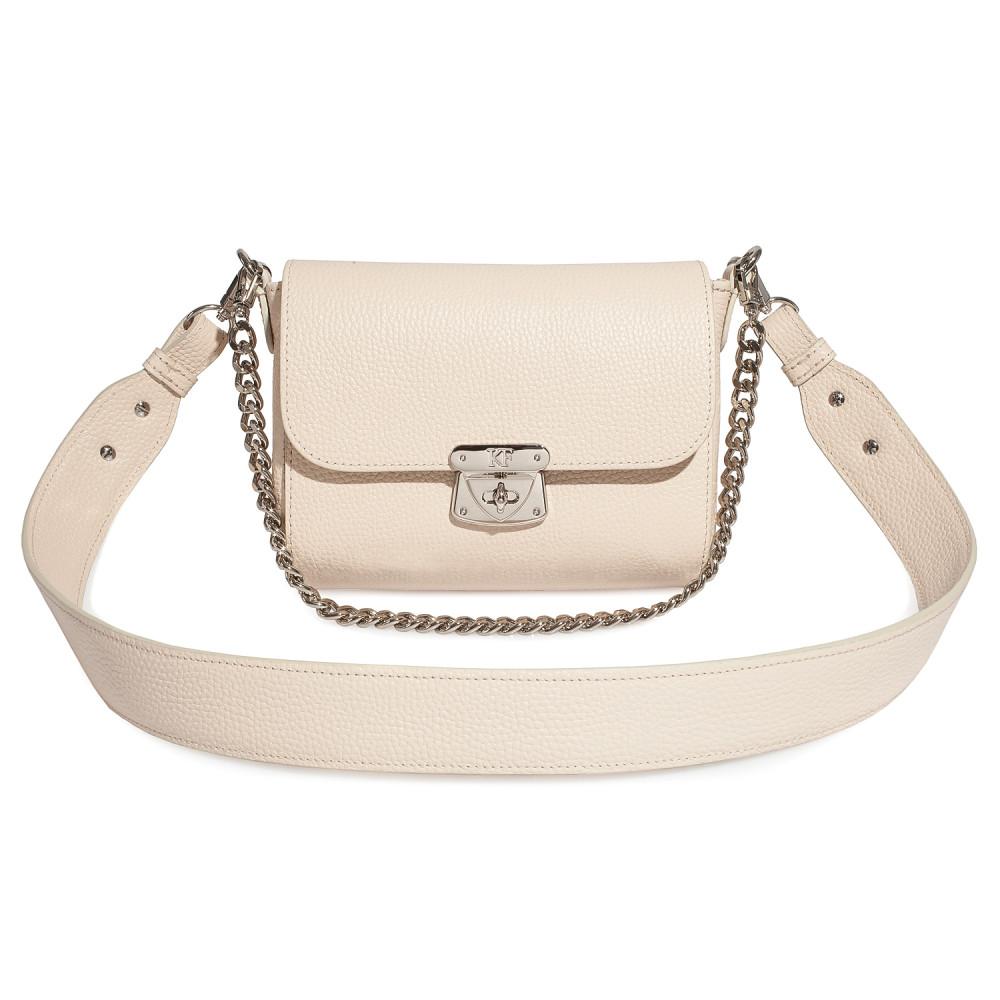 Жіноча шкіряна сумка кросс-боді на широкому ремені Prima S KF-3740