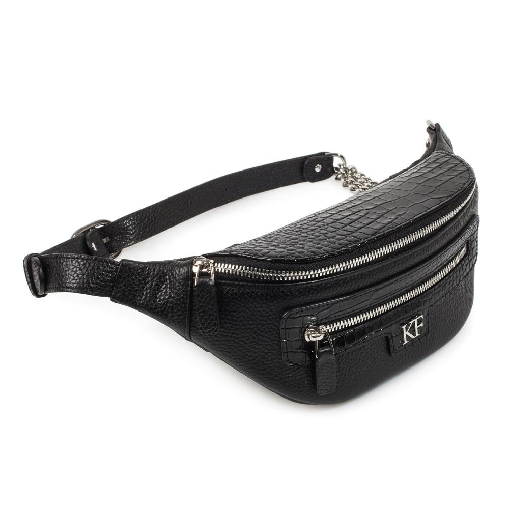 Women's leather belt Bananka bag KF-3758