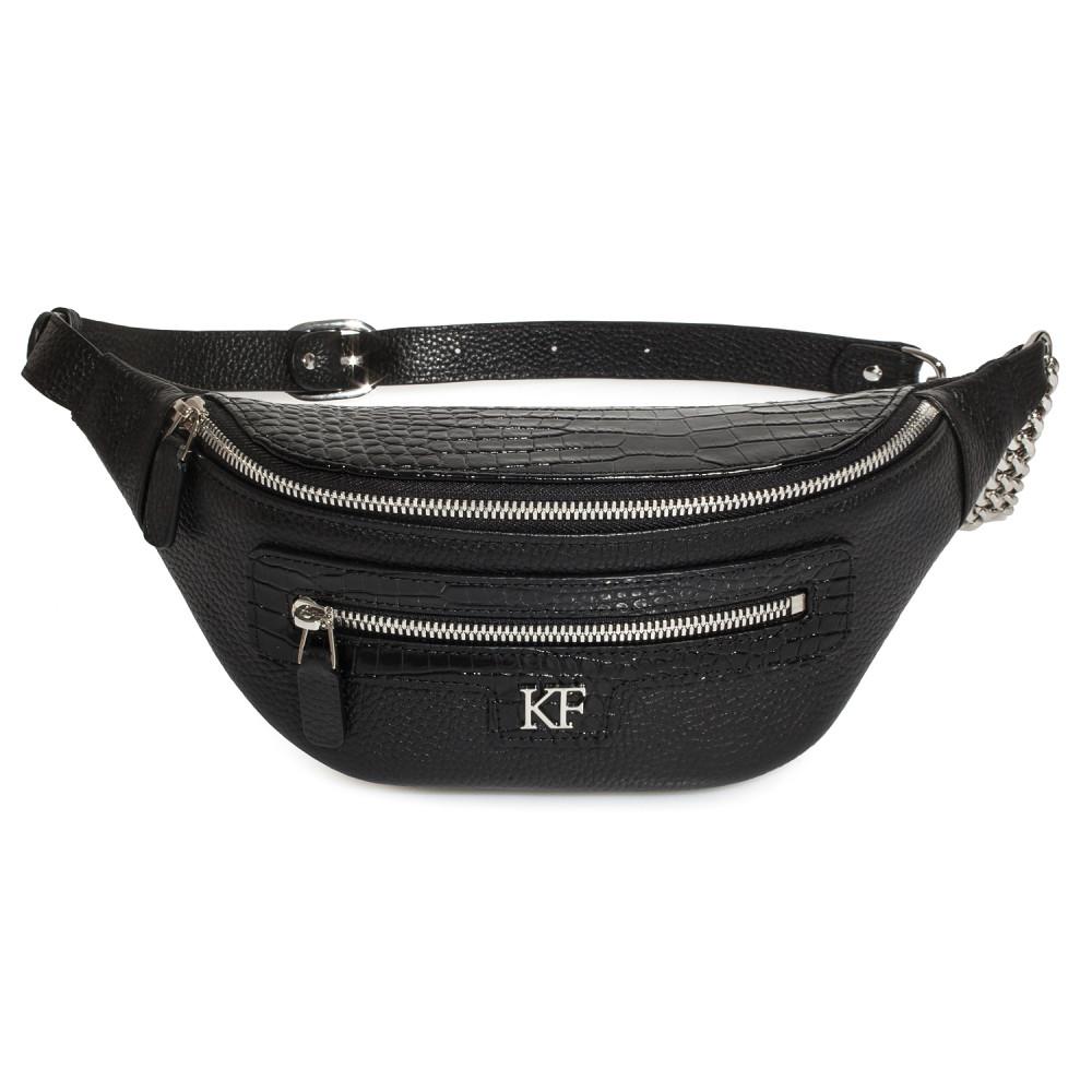 Жіноча шкіряна сумка на пояс Bananka KF-3758-2