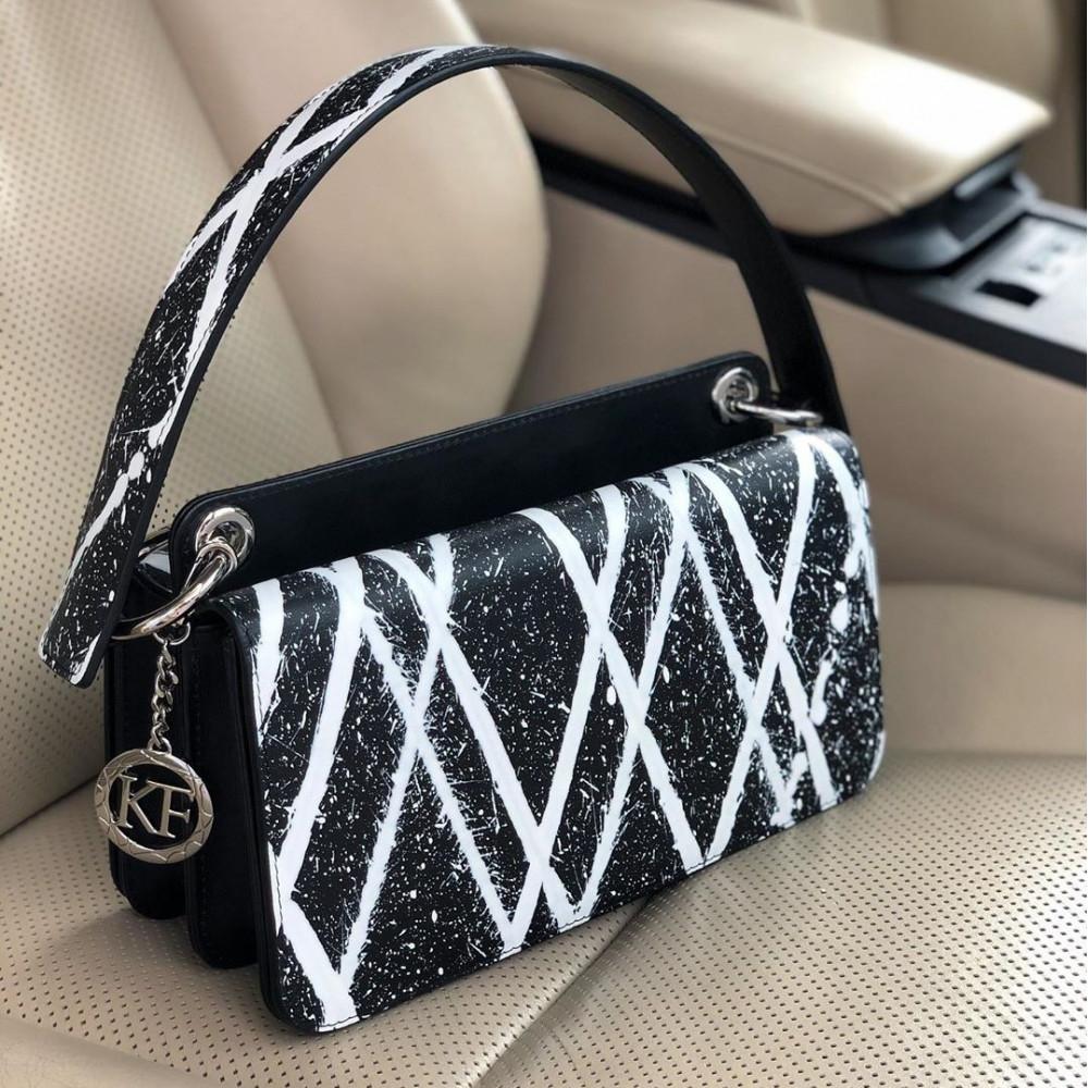 Women's leather bag Baguette KF-3772