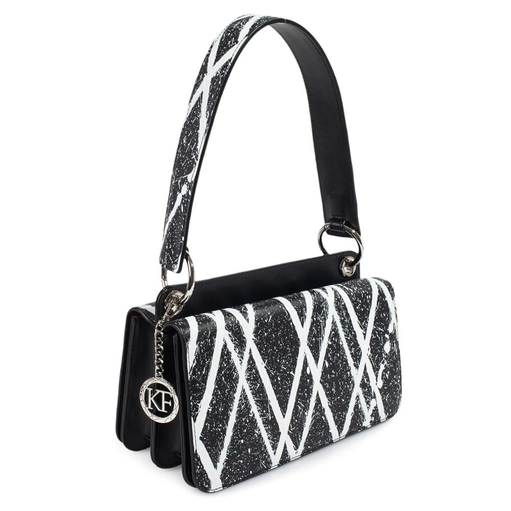 Жіноча шкіряна сумка-багет Baguette KF-3772-1