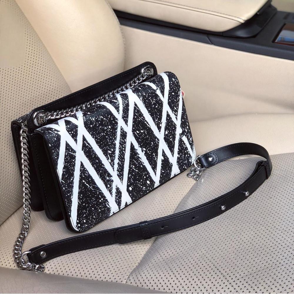 Жіноча шкіряна сумка на ланцюжку Elvira KF-3790-7
