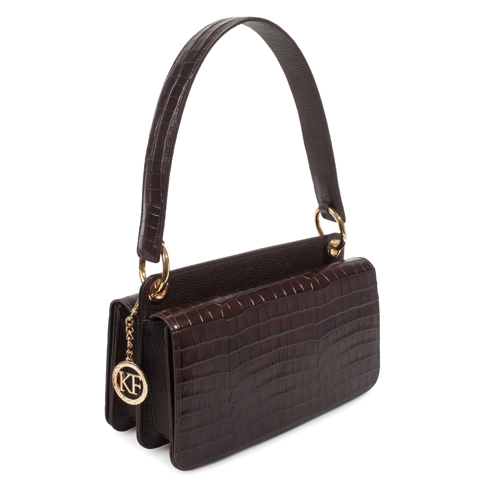 Women's leather bag Baguette KF-3791