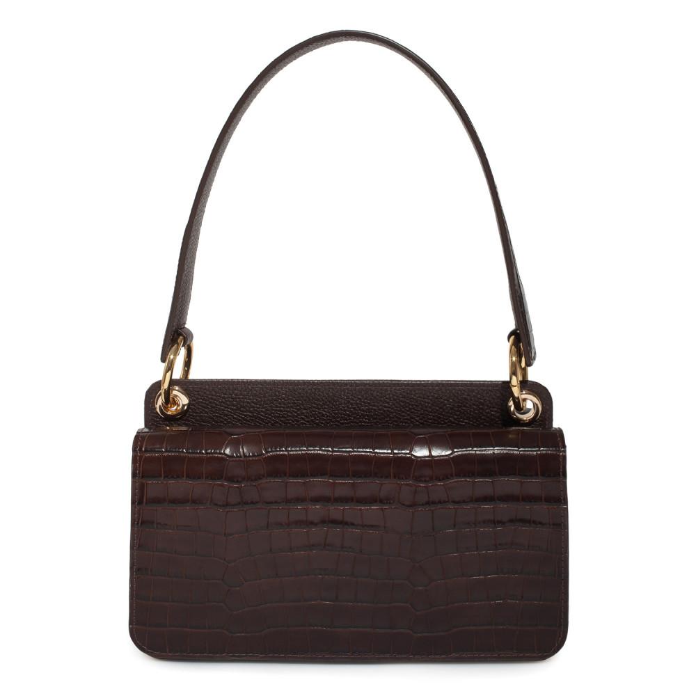 Жіноча шкіряна сумка-багет Baguette KF-3791-1