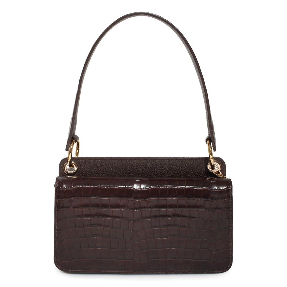 Жіноча шкіряна сумка-багет Baguette KF-3791-2