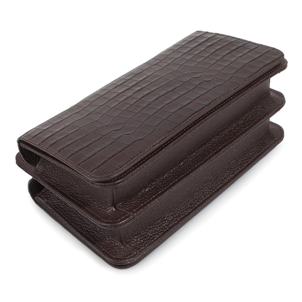 Жіноча шкіряна сумка-багет Baguette KF-3791-5