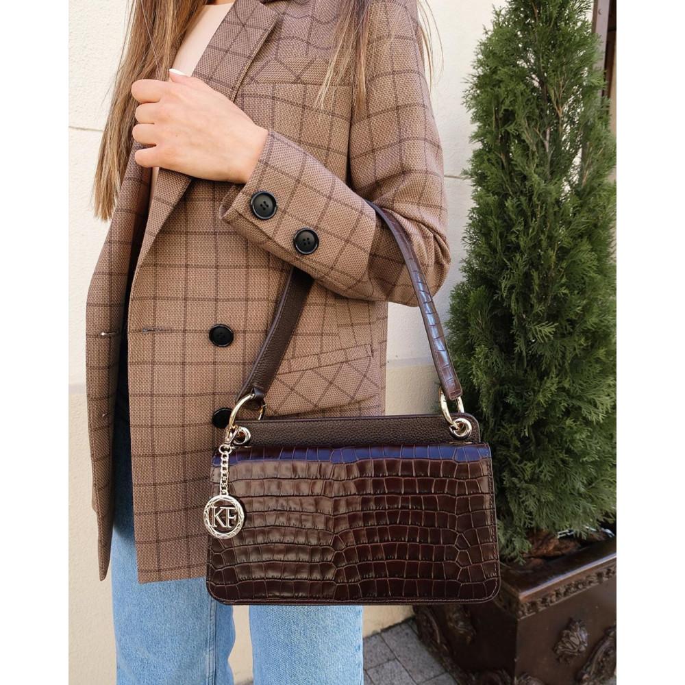 Жіноча шкіряна сумка-багет Baguette KF-3791-6