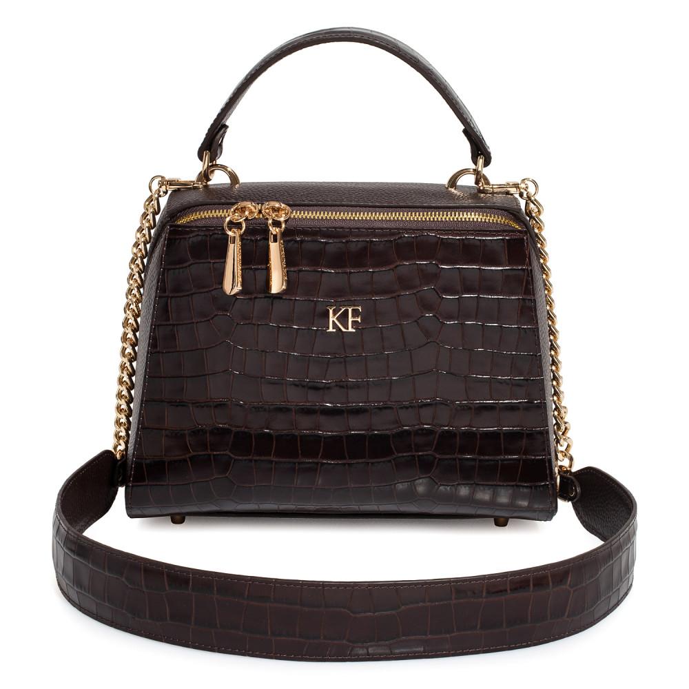 Жіноча шкіряна сумка Elegance KF-3792