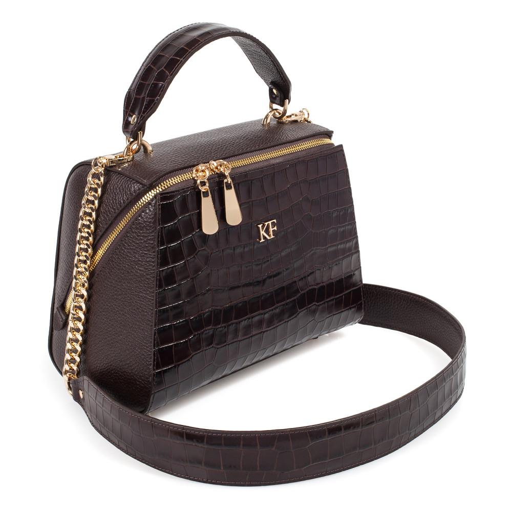 Жіноча шкіряна сумка Elegance KF-3792-1