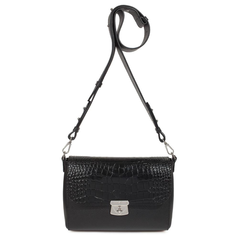Жіноча шкіряна сумка кросс-боді на широкому ремені Prima M KF-3801-2