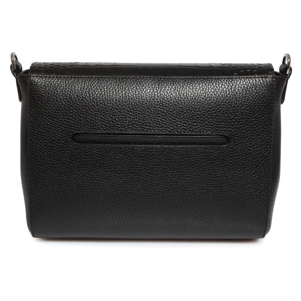 Жіноча шкіряна сумка кросс-боді на широкому ремені Prima M KF-3801-3