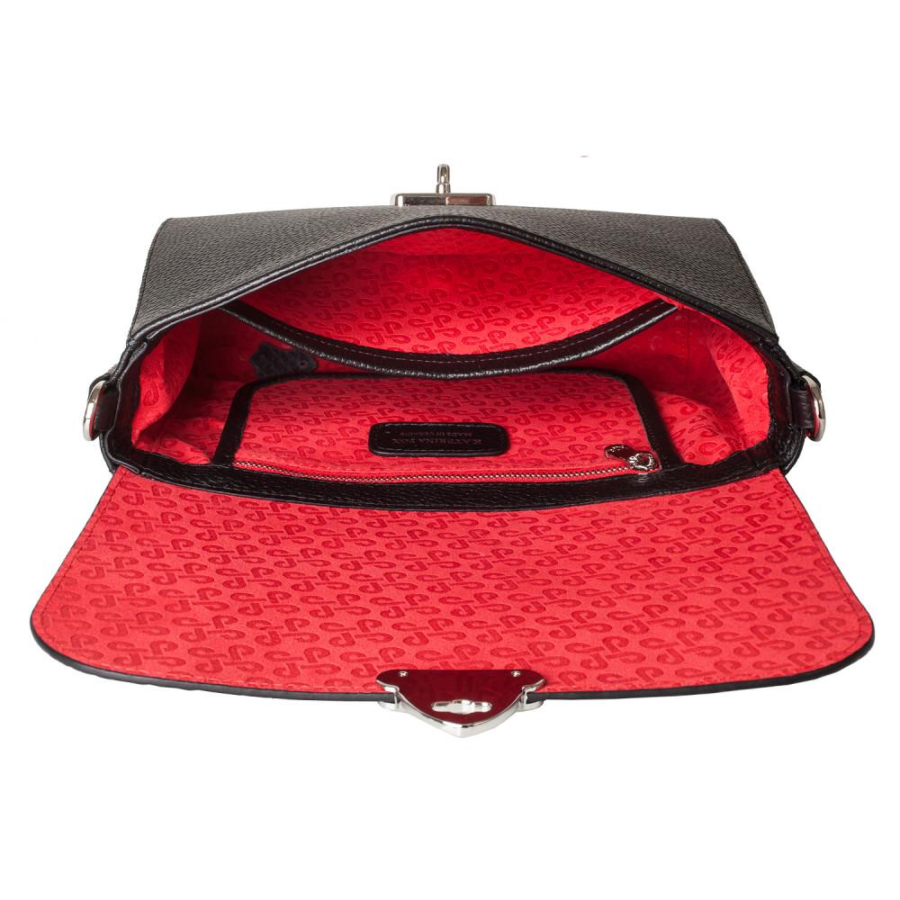 Жіноча шкіряна сумка кросс-боді на широкому ремені Prima M KF-3801-4