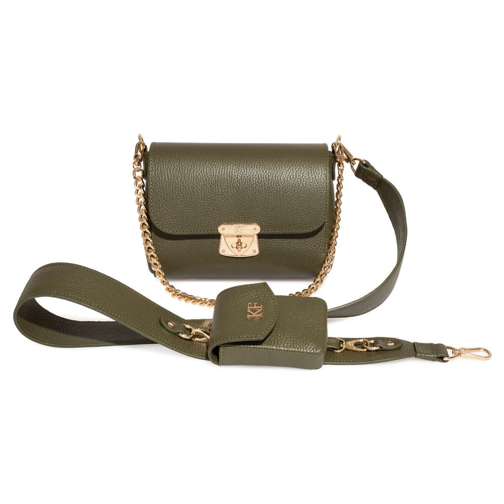 Жіноча шкіряна сумка кросс-боді на широкому ремені Prima Ann KF-3810-1