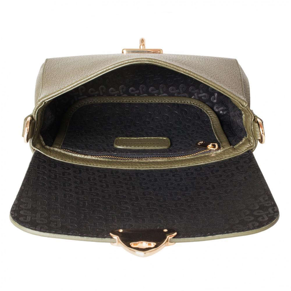 Жіноча шкіряна сумка кросс-боді на широкому ремені Prima Ann KF-3810-4