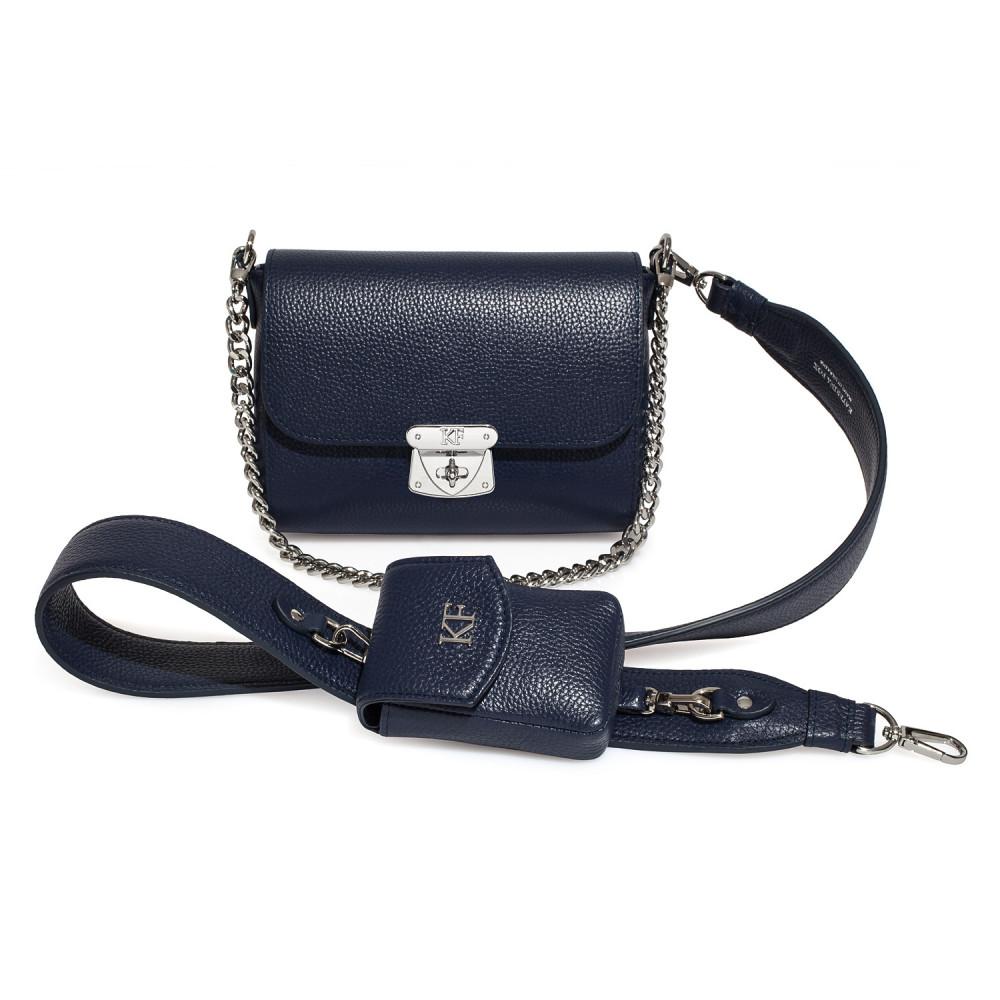Жіноча шкіряна сумка кросс-боді на широкому ремені Prima Ann KF-3812-1