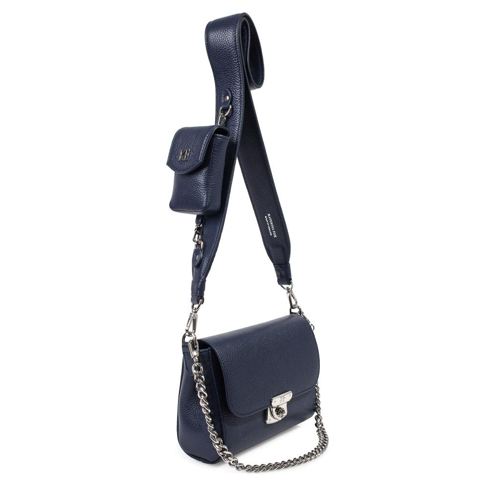 Жіноча шкіряна сумка кросс-боді на широкому ремені Prima Ann KF-3812-2