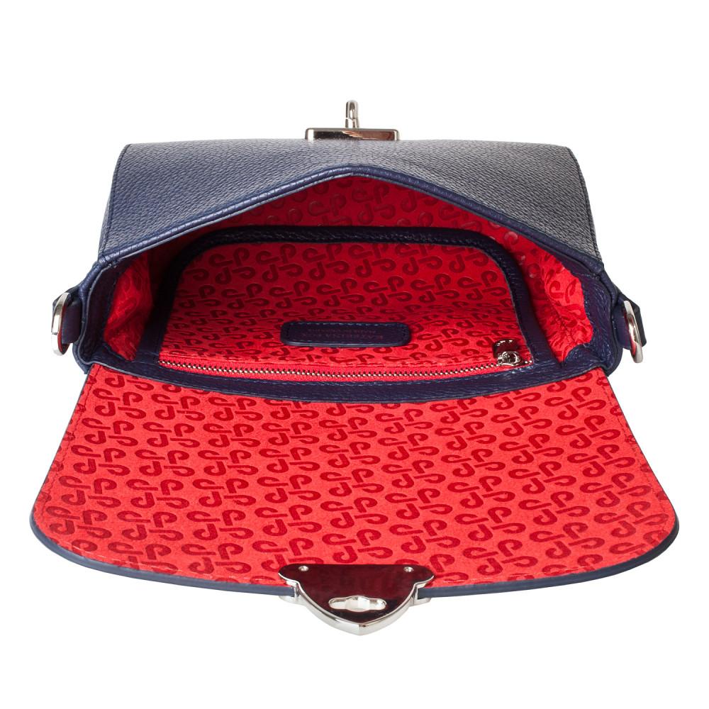 Жіноча шкіряна сумка кросс-боді на широкому ремені Prima Ann KF-3812-4
