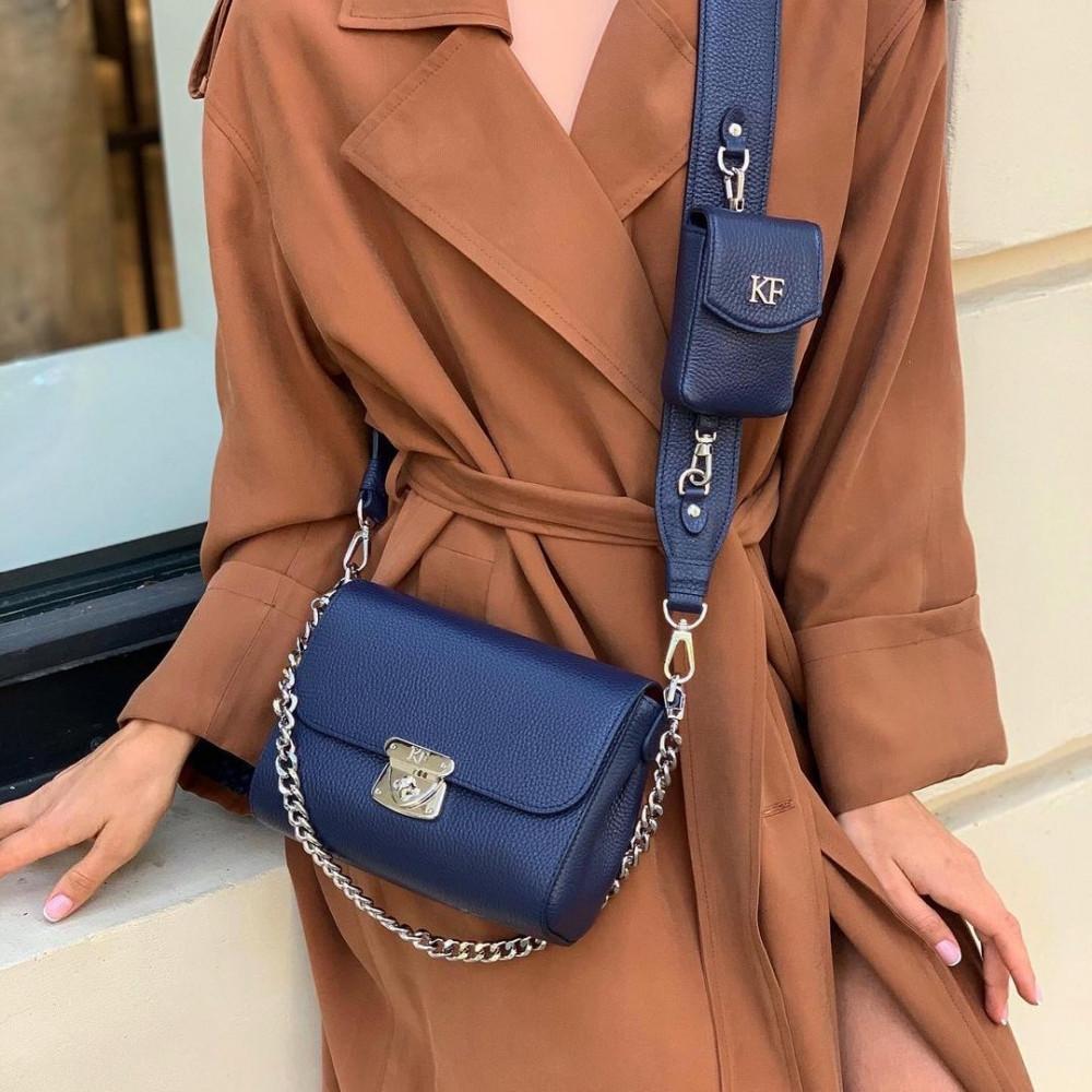 Жіноча шкіряна сумка кросс-боді на широкому ремені Prima Ann KF-3812-5