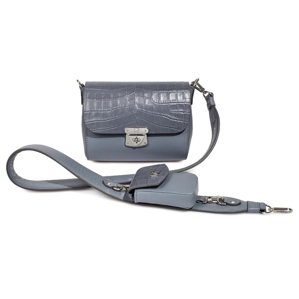 Жіноча шкіряна сумка кросс-боді на широкому ремені Prima Ann KF-3813-1