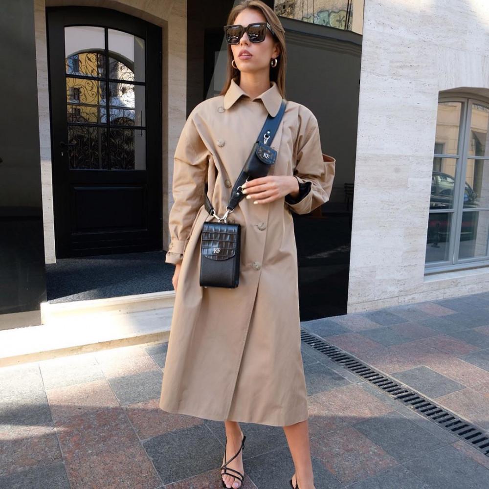 Жіноча шкіряна вертикальна сумка кросс-боді Naomi KF-3836-5