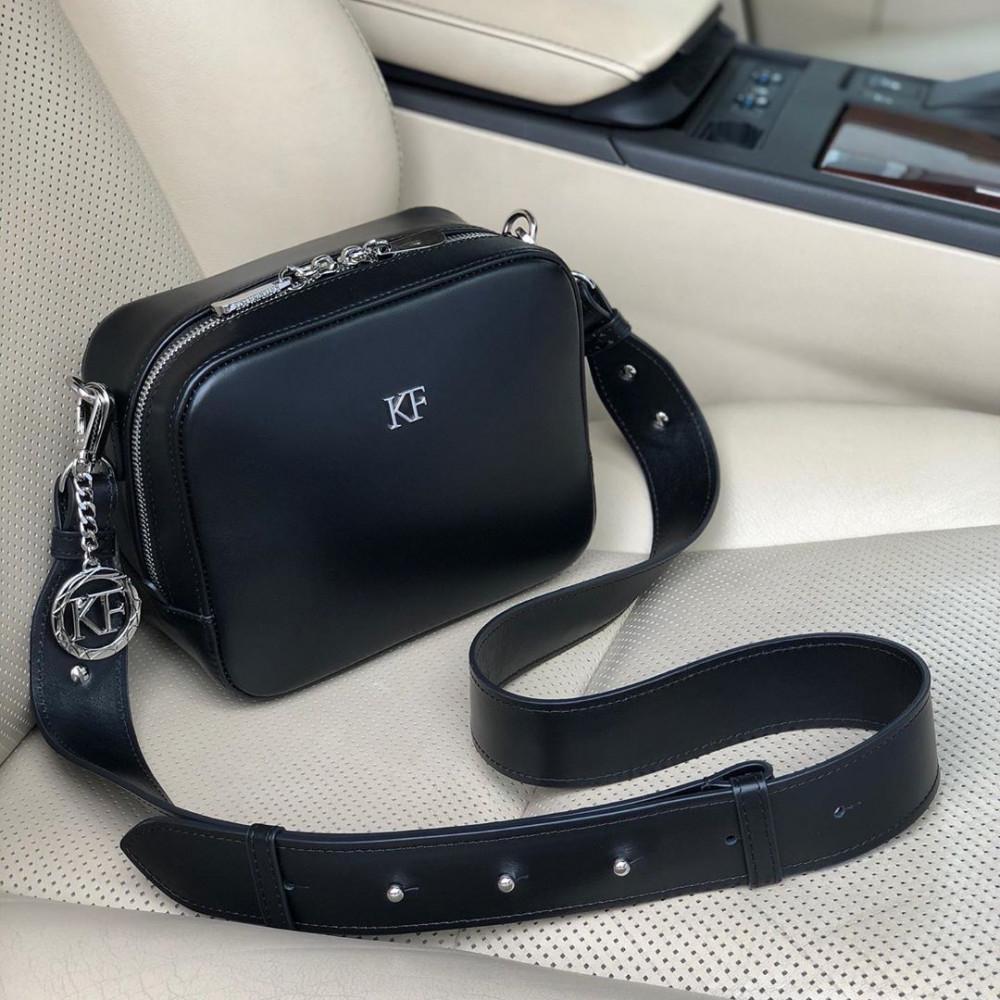 Жіноча шкіряна сумка кросс-боді на широкому ремені Tatiana KF-3847-