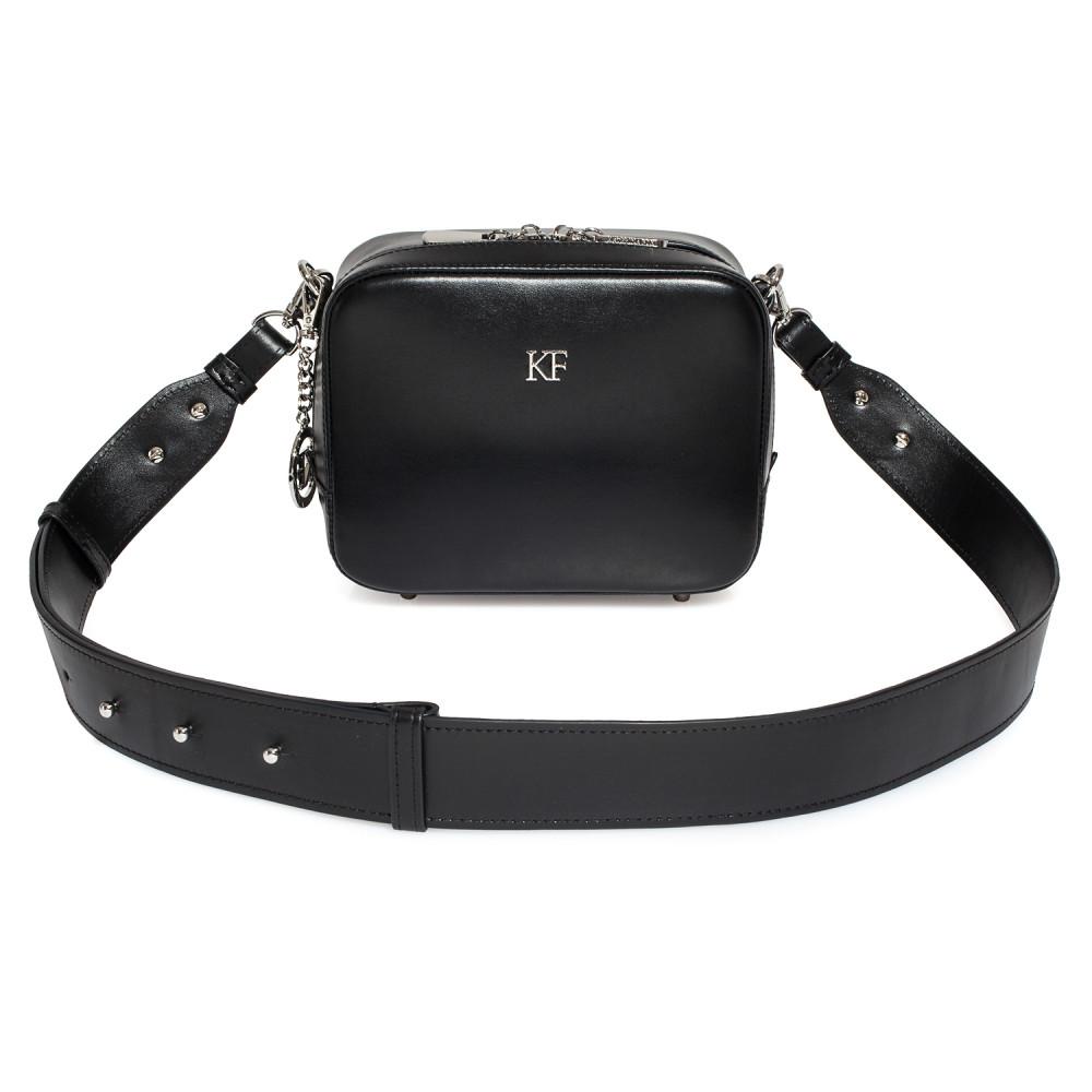 Жіноча шкіряна сумка кросс-боді на широкому ремені Tatiana KF-3847-2