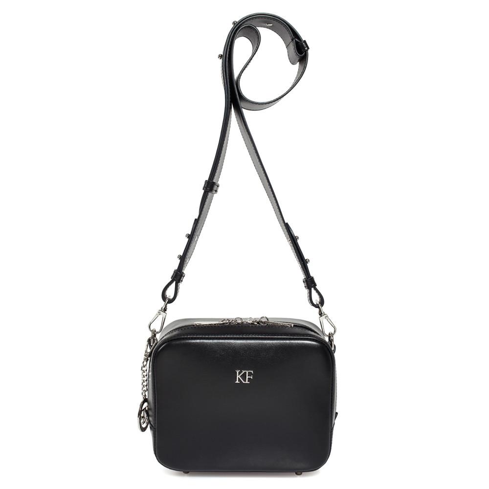 Жіноча шкіряна сумка кросс-боді на широкому ремені Tatiana KF-3847-3