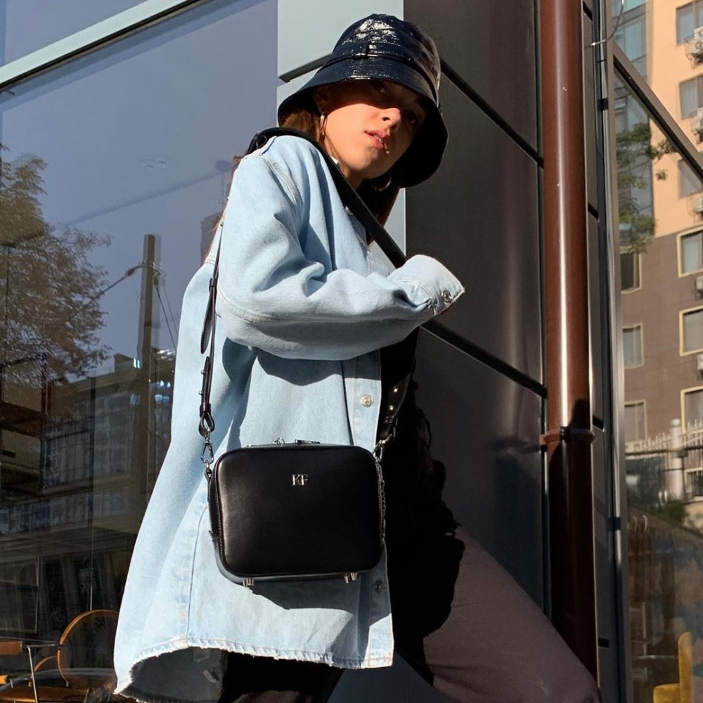 Жіноча шкіряна сумка кросс-боді на широкому ремені Tatiana KF-3847-8