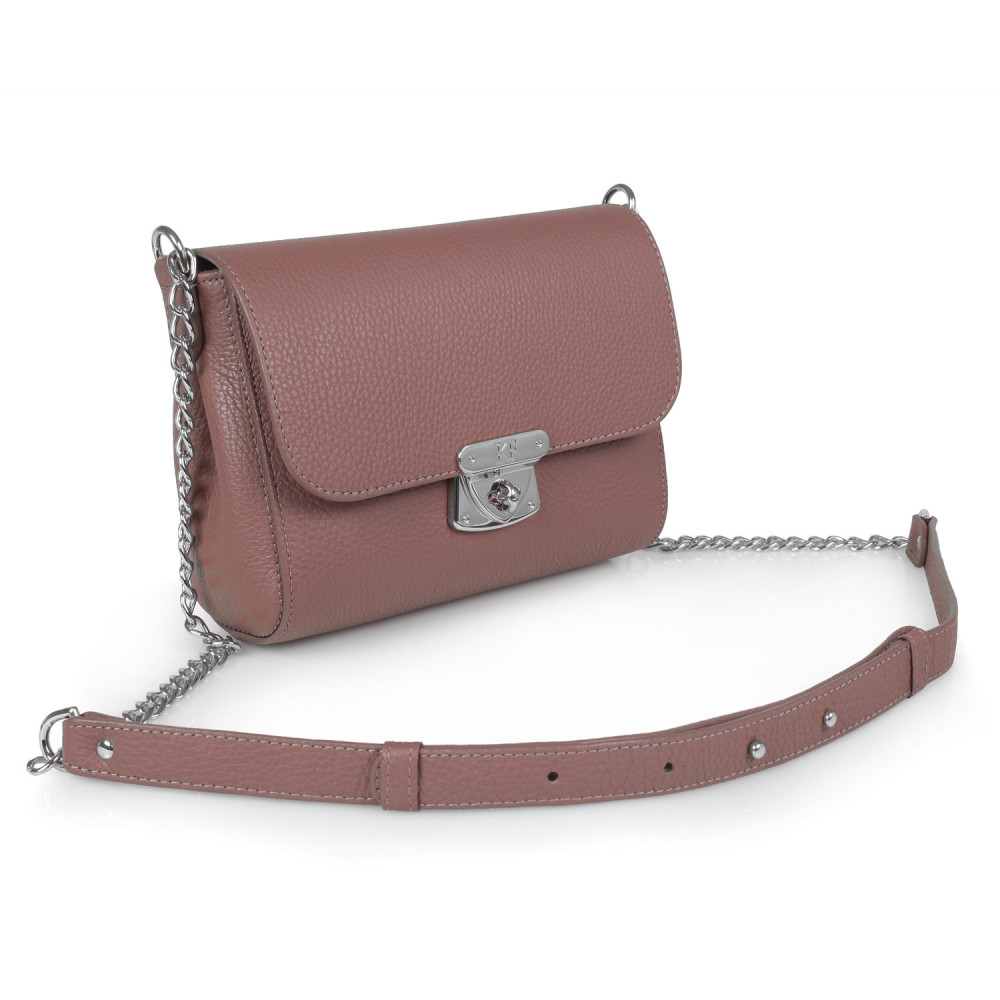 Women's leather bag on a chain Prima S KF-386-1