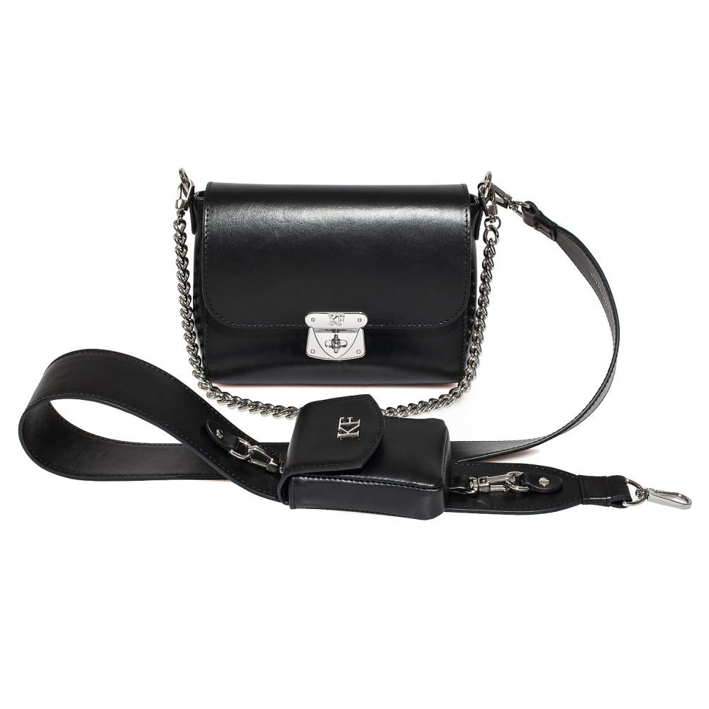 Жіноча шкіряна сумка кросс-боді на широкому ремені Prima Ann KF-3865-1