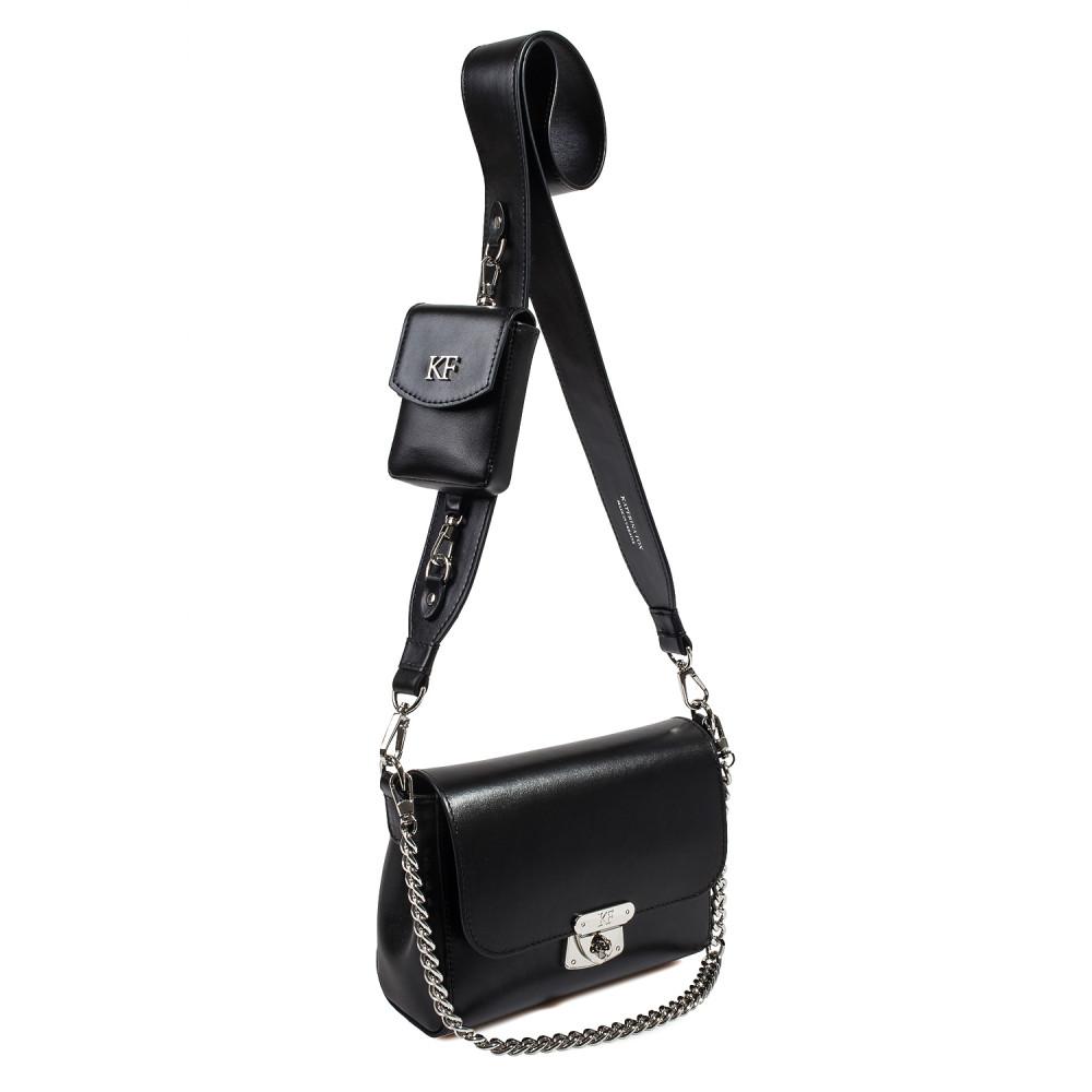 Жіноча шкіряна сумка кросс-боді на широкому ремені Prima Ann KF-3865-2