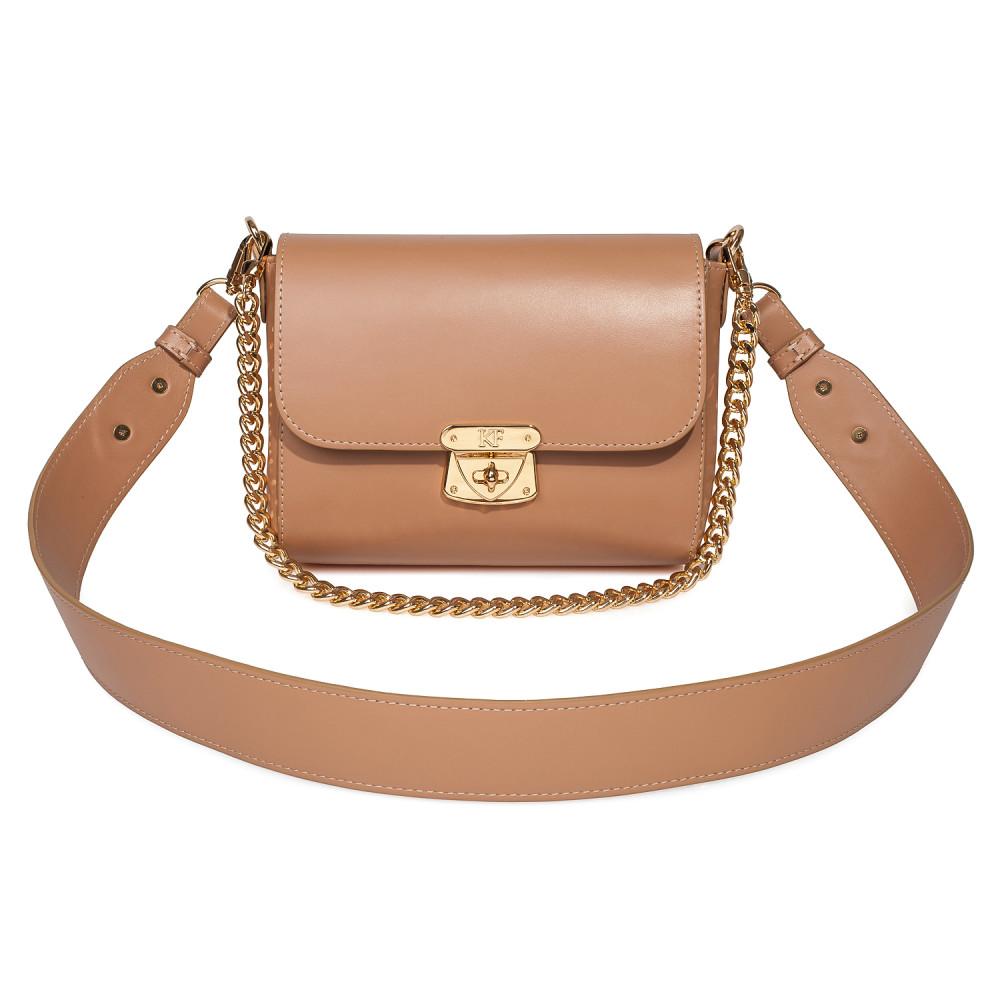 Жіноча шкіряна сумка кросс-боді на широкому ремені Prima S KF-3870-1