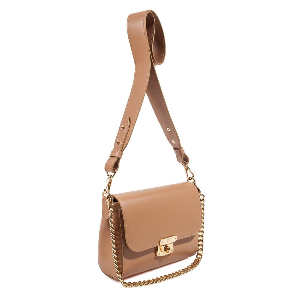 Жіноча шкіряна сумка кросс-боді на широкому ремені Prima S KF-3870-2