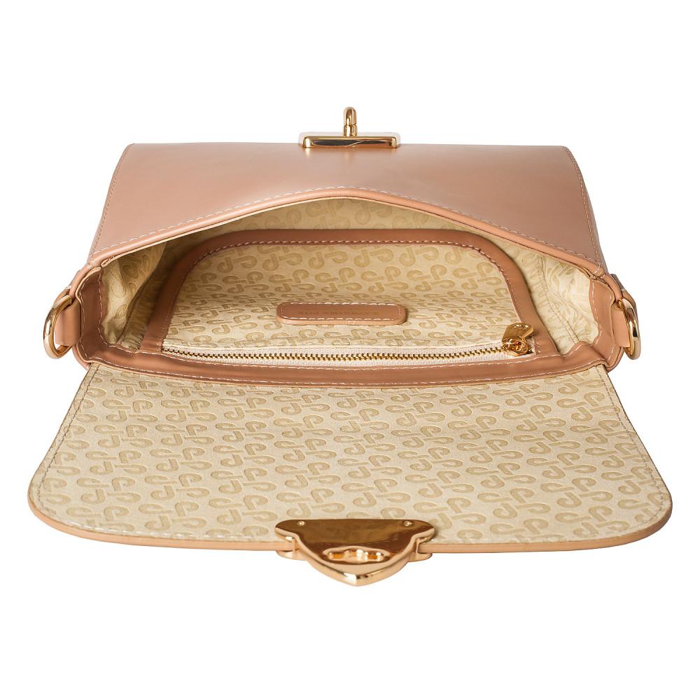 Жіноча шкіряна сумка кросс-боді на широкому ремені Prima S KF-3870-4