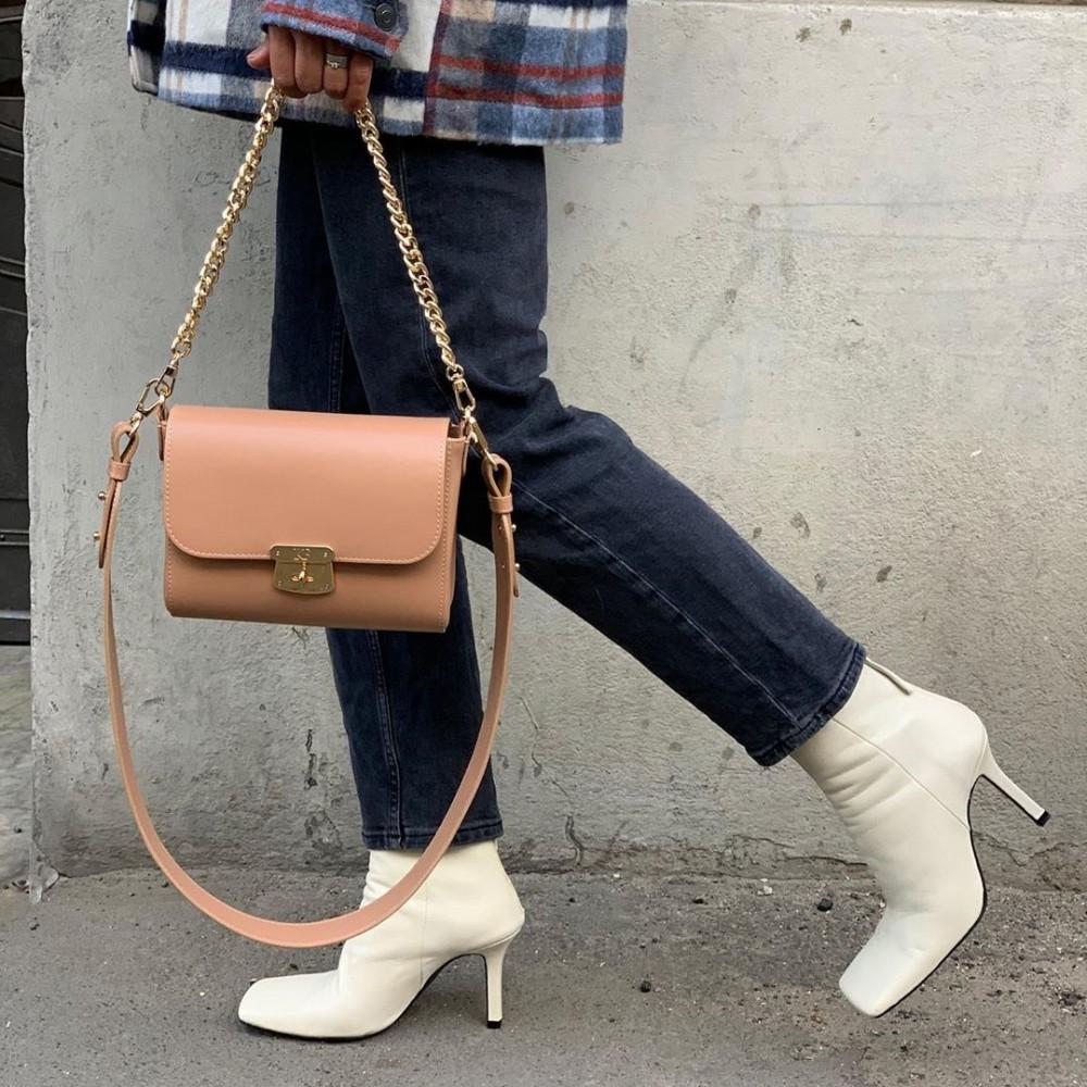 Жіноча шкіряна сумка кросс-боді на широкому ремені Prima S KF-3870-5