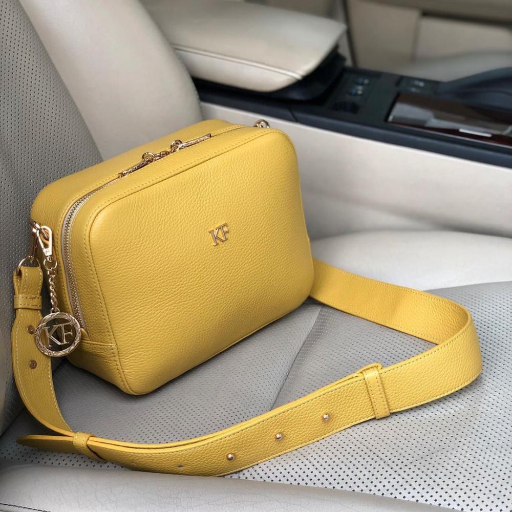Жіноча шкіряна сумка кросс-боді на широкому ремені Tatiana M KF-3874