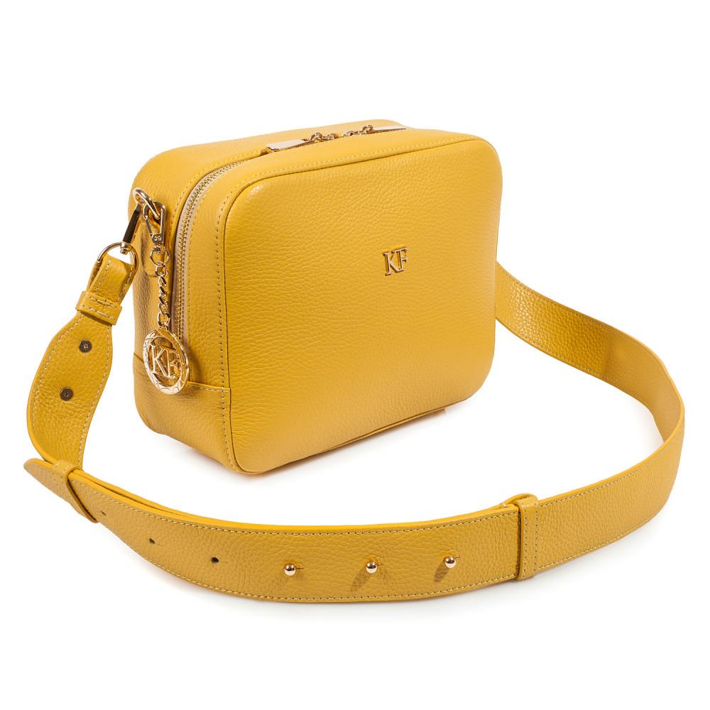 Жіноча шкіряна сумка кросс-боді на широкому ремені Tatiana M KF-3874-1