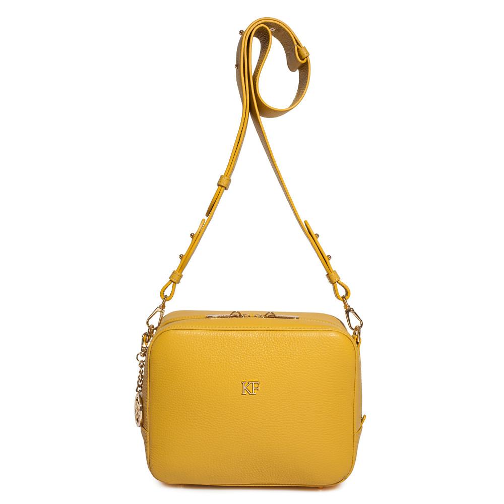 Жіноча шкіряна сумка кросс-боді на широкому ремені Tatiana M KF-3874-2