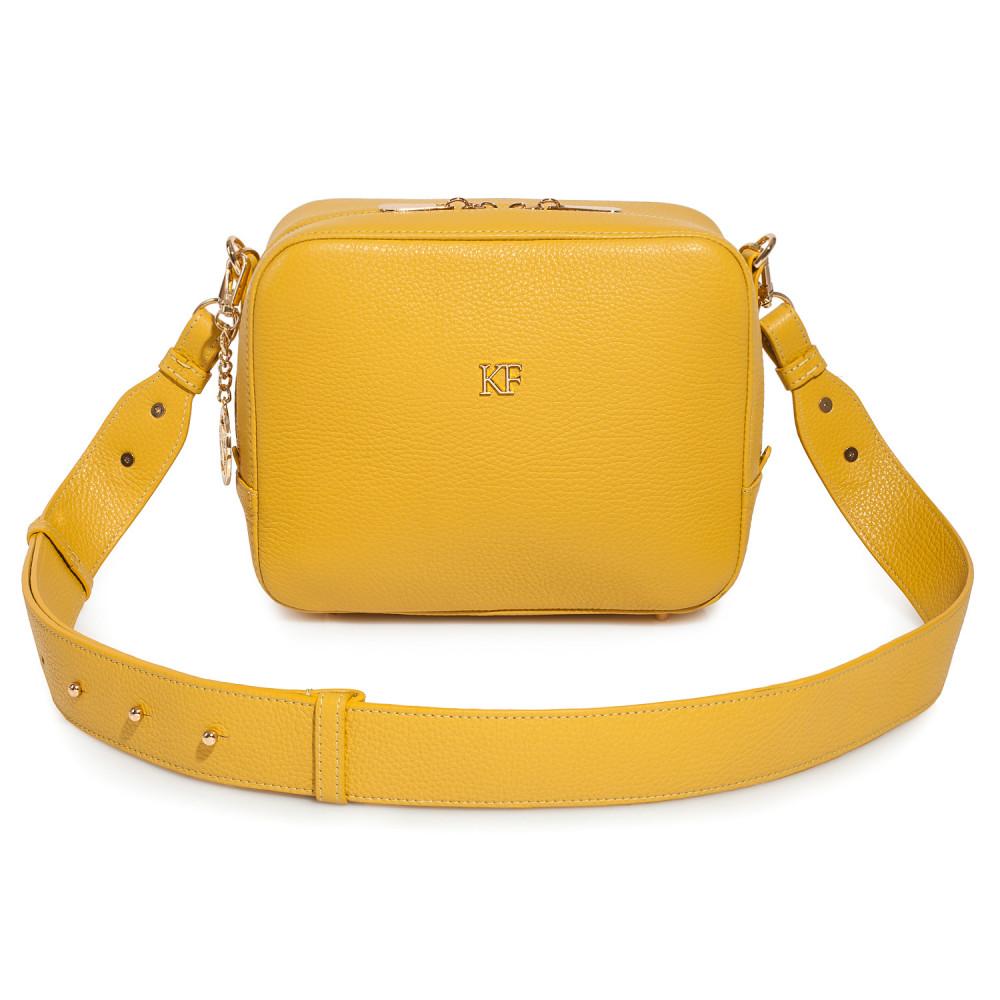 Жіноча шкіряна сумка кросс-боді на широкому ремені Tatiana M KF-3874-3